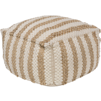 Gdaddy & Boo Striped Jute Pouf
