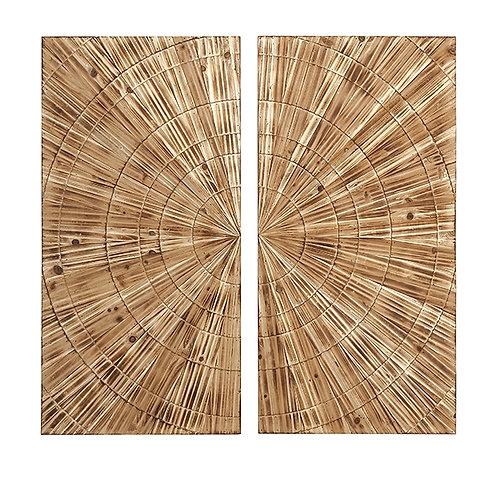 JWB Carved Wood Wall Decor