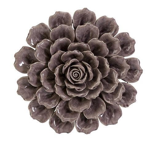 Kayla Marie Ceramic Wall Flower, purple