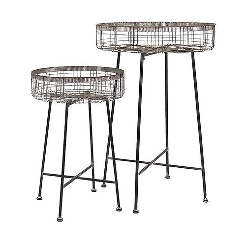 Penny's Round Plant Stands, Set of 2