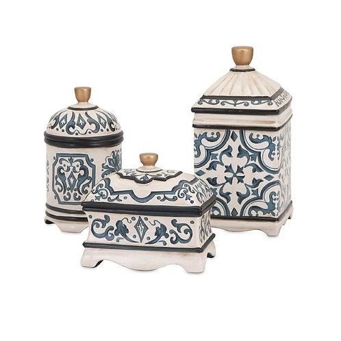 Beth Kushnick Ceramic Boxes, set of 3