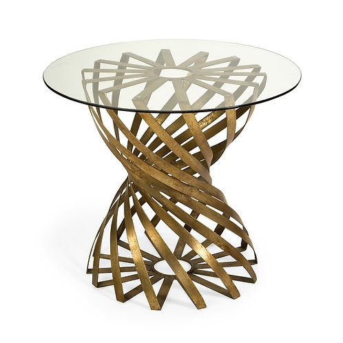 King Accent Table with Glass Top