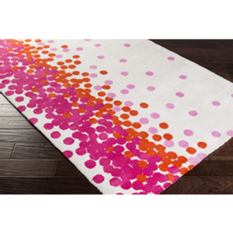 GG Pink Explosion Rug, 5' x 8'
