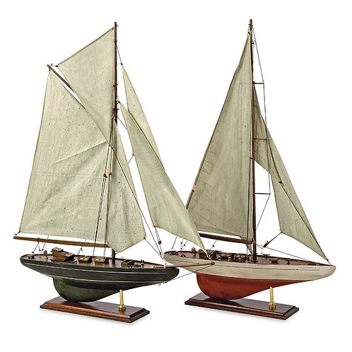 Antiqued Sailing Vessels, Set of 2