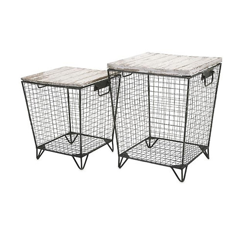 Penny's Caged Tables, Set of 2