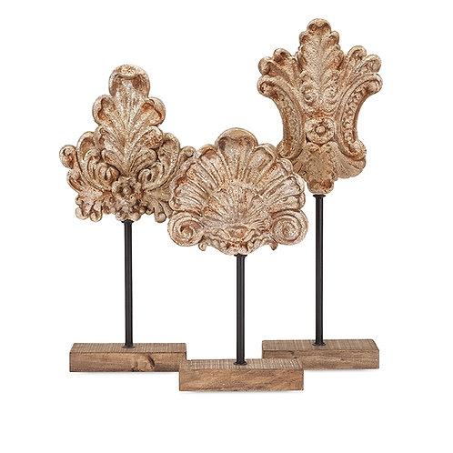 Noble Floral Sculpture, Set of 3
