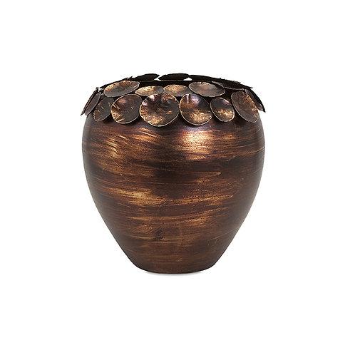 Ethan Small Copper Leaf Vase