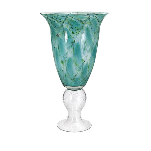 King Tidal Blue Glass Vase