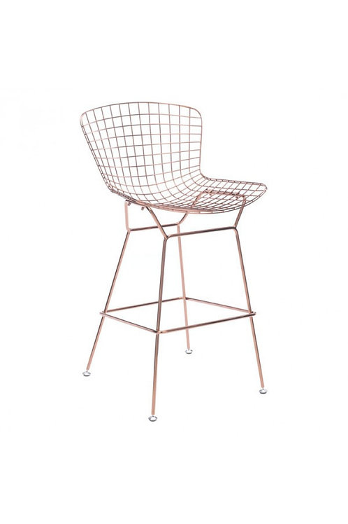 Wire Bar Chair, Rose Gold