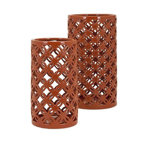 Trisha Yearwood Persimmon Vases, Set of 2