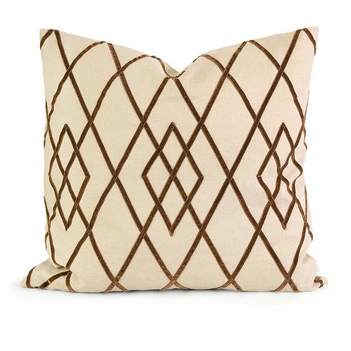 IK Ayaka Brown Velvet on Linen Pillow
