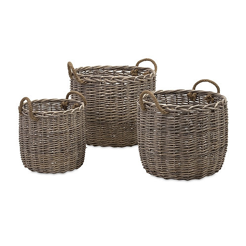 Lo Country Willow Baskets, set of 3