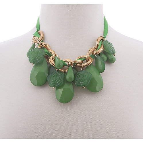 NH Emerald Green Stone Necklace