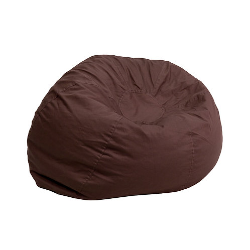 Small Solid Brown Blue Kid's Bean Bag