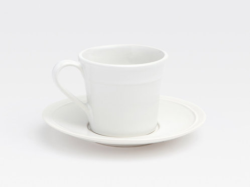 Ariana White Cup and Saucer, set of 4