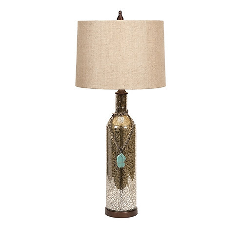 Sherman Table Lamp with Turquoise Charm