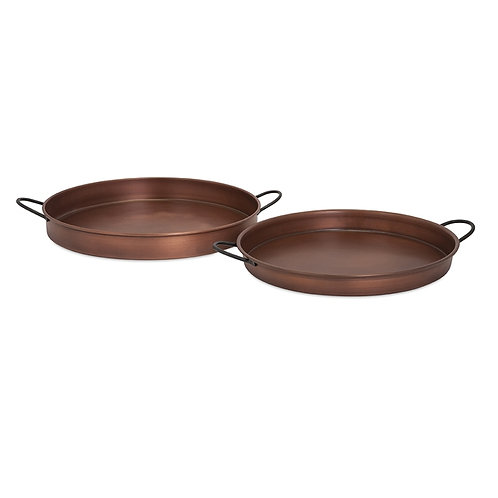 JWB Copper Plated Trays, Set of 2