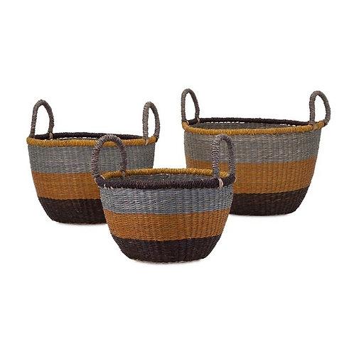 Camila Seagrass Baskets, Set of 3