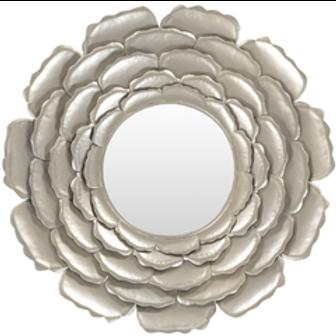 Kayla Marie Silver Rose Mirror