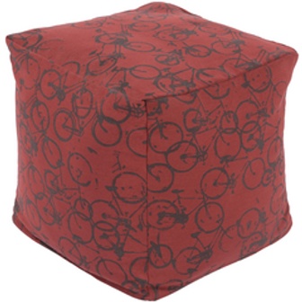 James Parker Cycle Red Pouf
