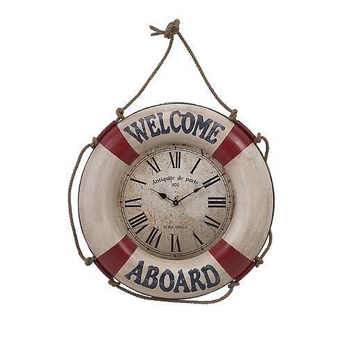 Welcome Aboard Wall Clock