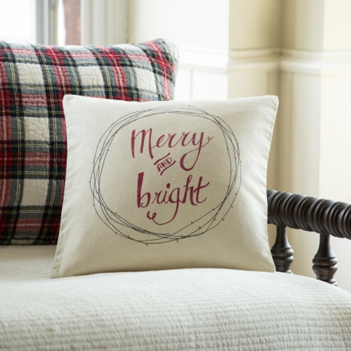 Merry and Bright Canvas Pillow