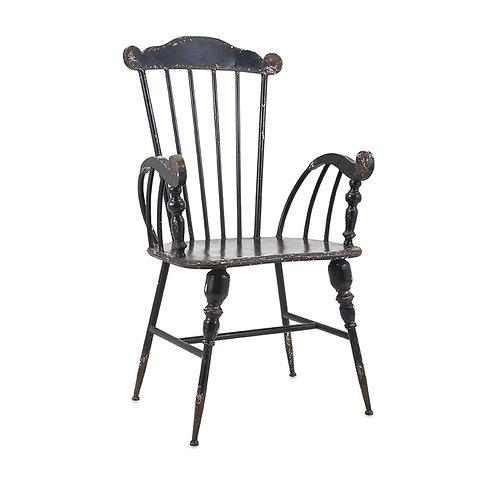 Trenton Metal Black Arm Chair