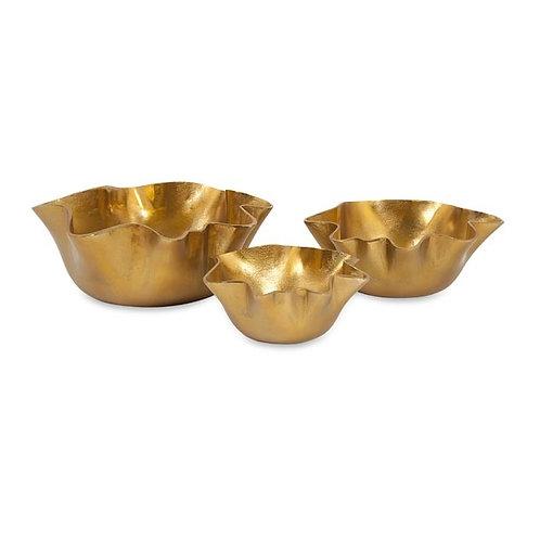 King Gilded Bowls, set of 3