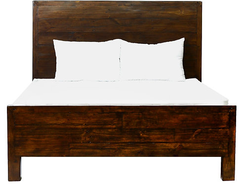 Post and Rail Queen Platform Bed