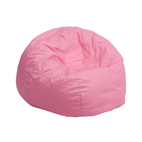 Small Solid Pink Kid's Bean Bag