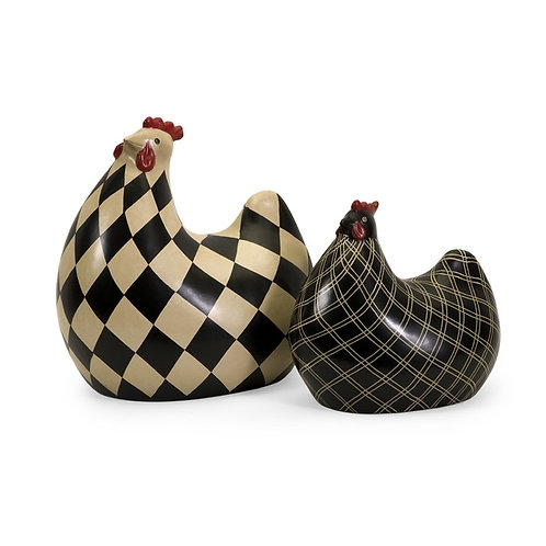 Farmhouse Chickens, set of 2