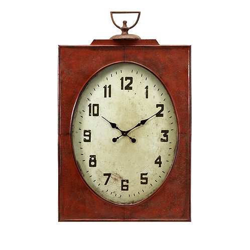 Freeman Oversized Red Clock