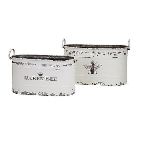 Trisha Yearwood Queen Bee Tubs, Set of 2