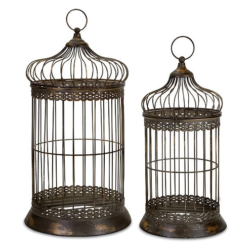 Grandmother Brown's Birdcages, Set of 2