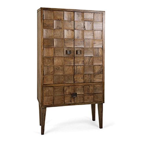 James Parker Wood Tile Armoire