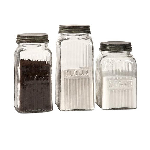 Madison Glass Kitchen Canisters