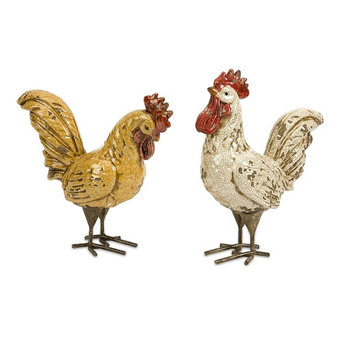Freeman Farmhouse Roosters, Set of 2