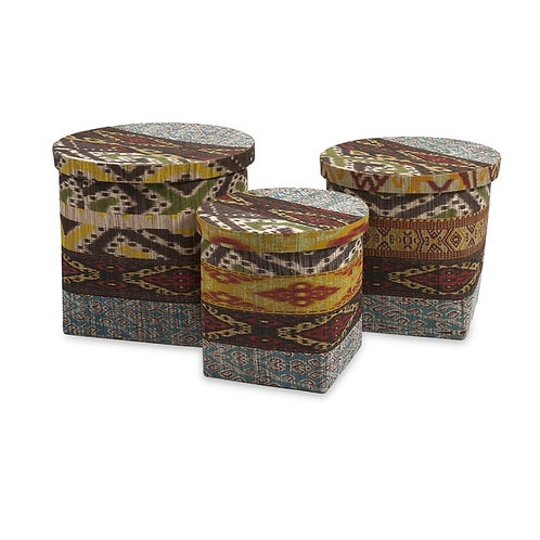 JWB Water Hyacinth Baskets, Set of 3