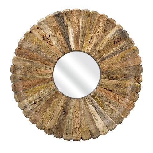 JWB Organic Daisy Wood Mirror