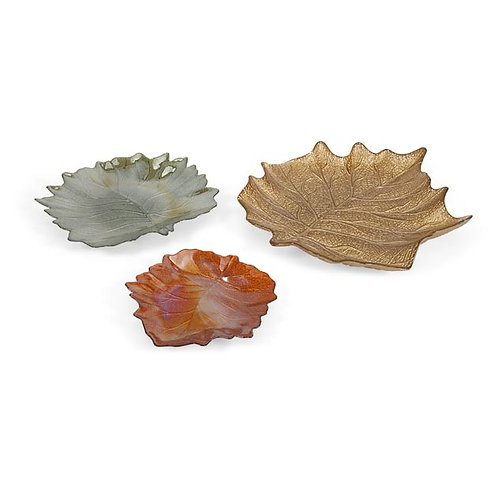 Fall Harvest Glass Plates, set of 3