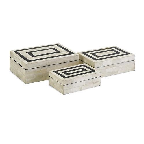 Brianna Bone Inlay Boxes, set of 3