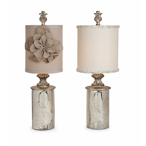 Kayla Marie Glass Mini Lamp, asst set of 2