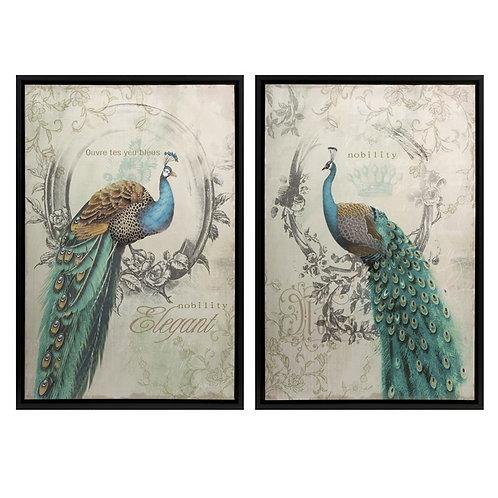 Clen Studio Dancing Peacocks, set of 2