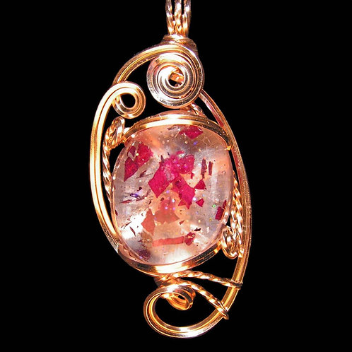 Sculpted Wire Pendant 14kt GF Wire