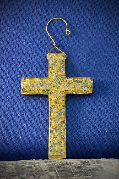 Memorial Cross Ornament - Large
