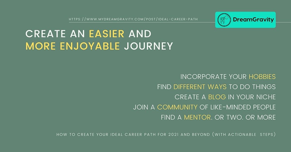 Ideal Career Path - MyDreamGravity - Easier More Enjoyable Journey