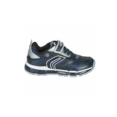 GEOX J ANDROID NAVY SILVER