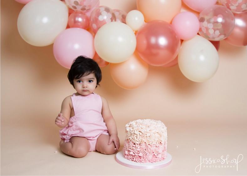 Baby Girl Pink Balloon Cloud