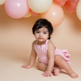 Pink Balloon Cloud Cake Smash