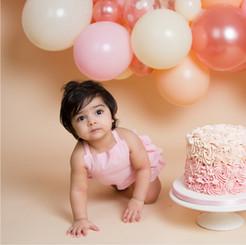 Baby Girl Pale Pink Cake Smash